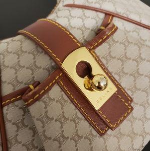 Celine   Vintage Triomphe Small Shoulder Bag